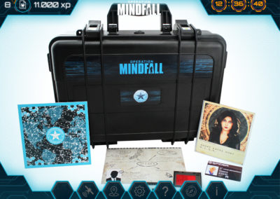Operation Mindfall ActionPack with props on game screen