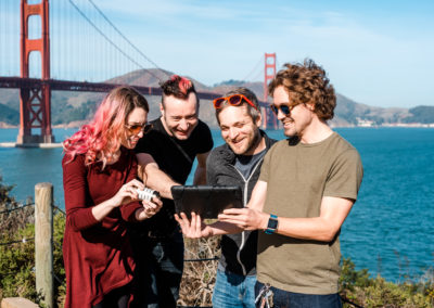 4 people playing Outdoor Escape Games near Golden Gate Bridge