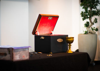 The Last Secret chest with holy grail