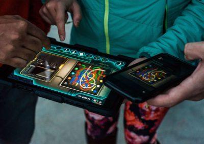 Operation Mindfall puzzle on iPad outdoor